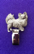 Dog Show Breed Ring Number Clip - Chihuahua (Long Coat) - FULL BODY Silver or Gold Style